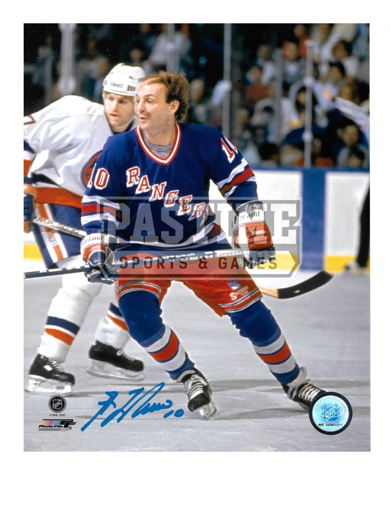 Guy Lafleur Autographed 8X10 Montreal Canadians Home Jersey New York Rangers (Skating) - Pastime Sports & Games