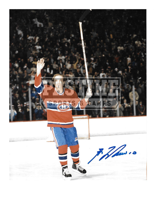 Guy Lafleur Autographed 8X10 Montreal Canadians Home Jersey (Waving) - Pastime Sports & Games