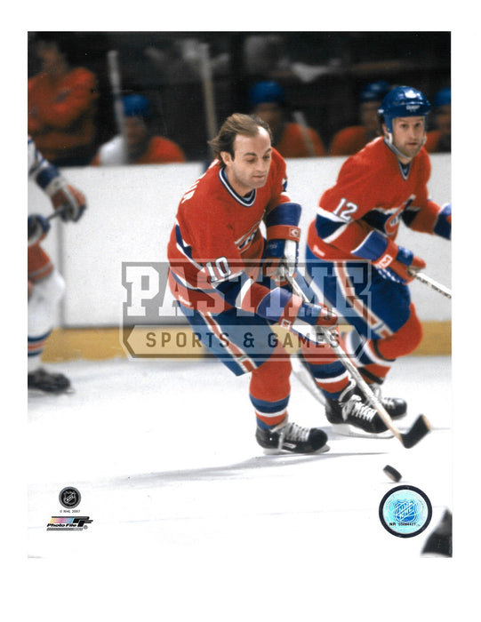 Guy Lafleur 8X10 Montreal Canadians Home Jersey (Skating No Helmet) - Pastime Sports & Games