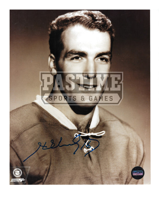 Henri Richard Autographed 8X10 Montreal Canadians Home Jersey (Close Up Pose) - Pastime Sports & Games