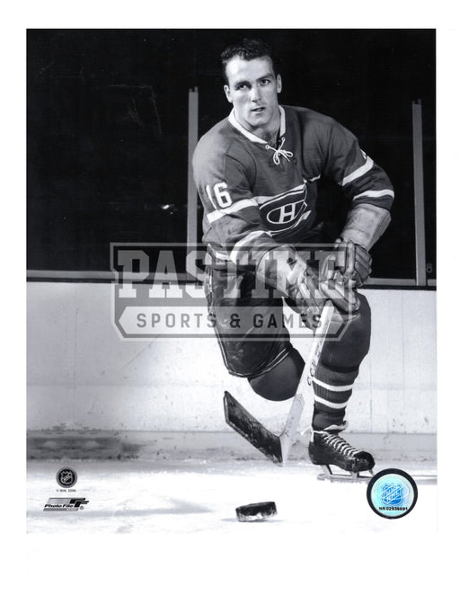 Henri Richard 8X10 Montreal Canadians Home Jersey (Skating With Puck) - Pastime Sports & Games