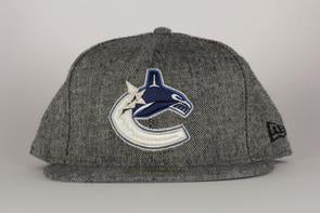 Vancouver Canucks Hockey Tweed Trim 5950 Hat (Grey New Era) - Pastime Sports & Games