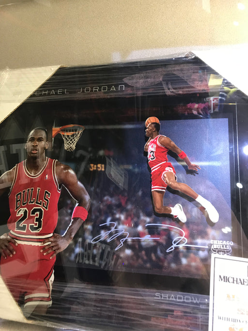 Michael Jordan Autographed Shadow Box Framed Picture UDA Upper Deck Authenticated - Pastime Sports & Games