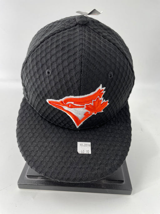 MLB Toronto Blue Jays Black Mesh Orange Logo Hat - Pastime Sports & Games