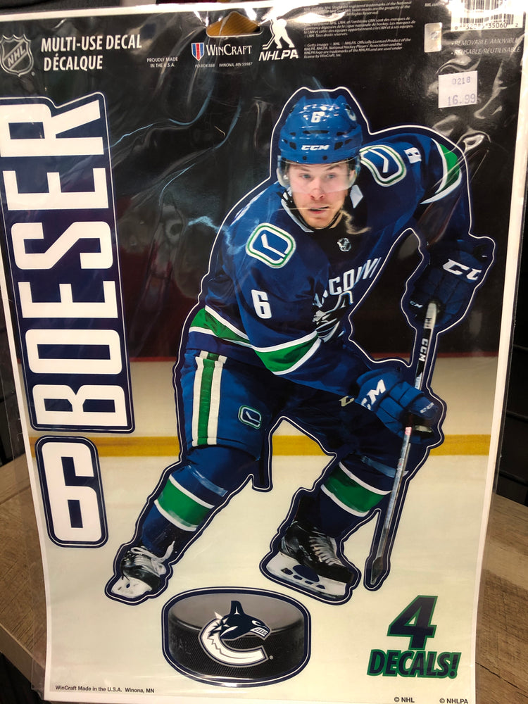 NHL Multi-Use Decal Brock Boeser - Pastime Sports & Games