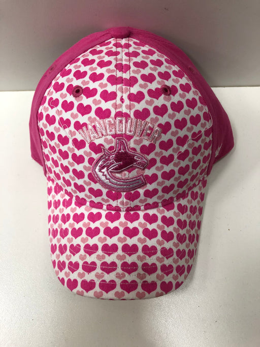 NHL Vancouver Canucks Hat Pink And White Hearts Toddler - Pastime Sports & Games