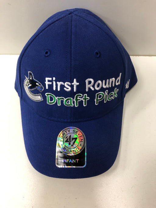 NHL Vancouver Canucks Infant Hat First Round Draft Pick Orca Logo - Pastime Sports & Games