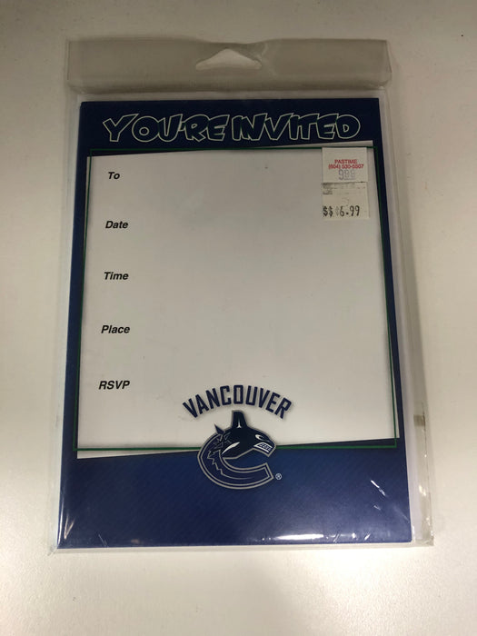 NHL Party Invite Cards Vancouver Canucks - Pastime Sports & Games