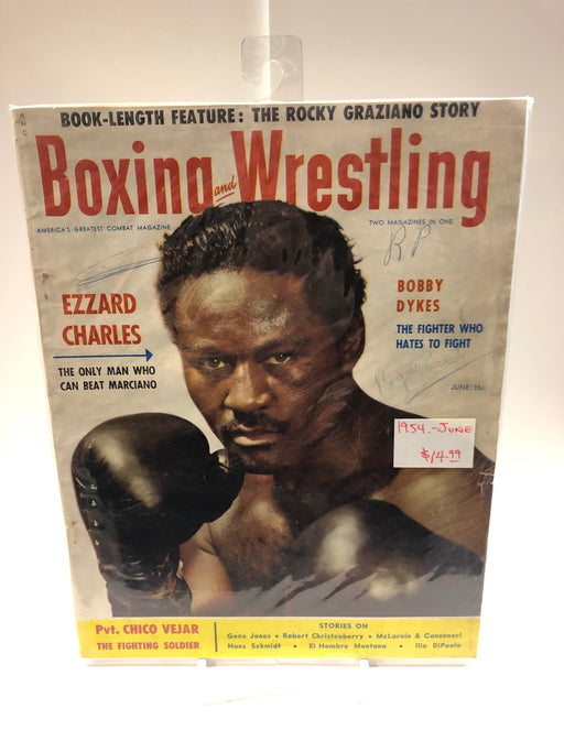 Boxing and Wrestling 1954 June Magazine - Pastime Sports & Games