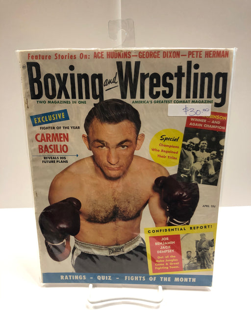 Boxing and Wrestling Ft. Ace Hudkins, George Dixon, Pete Herman Magazine - Pastime Sports & Games