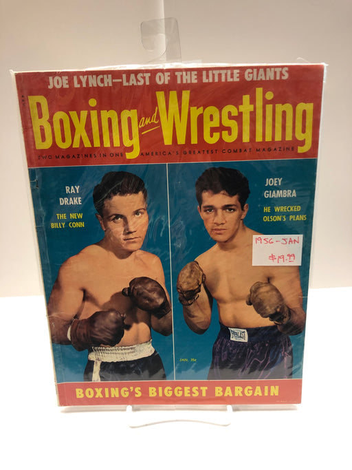 Boxing and Wrestling 1956 Jan Magazine - Pastime Sports & Games
