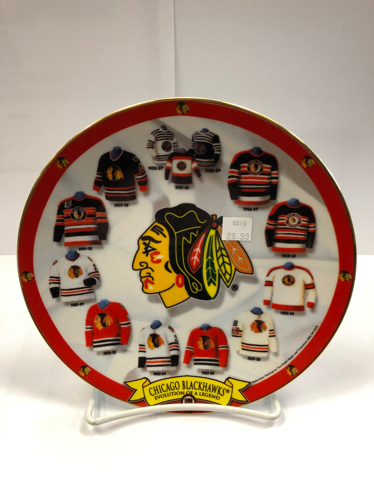 Chicago Blackhawks Evolution Of A Legend Collectors Plate - Pastime Sports & Games