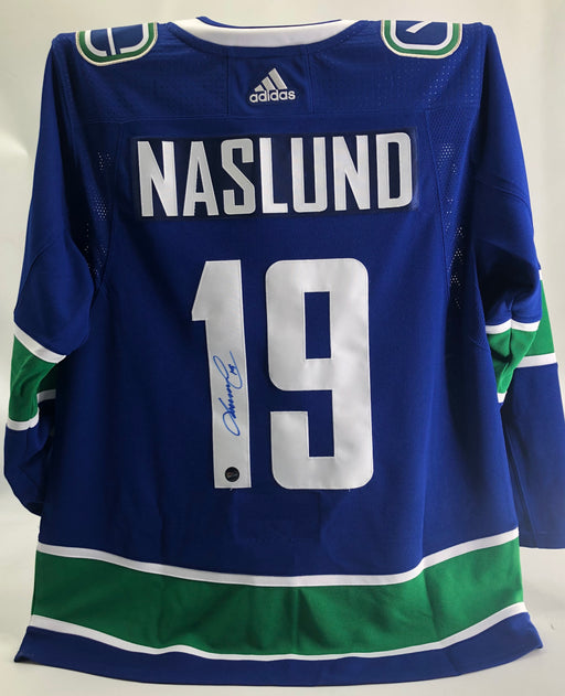 Markus Naslund Autographed Vancouver Canucks Orca Home Jersey Adidas - Pastime Sports & Games