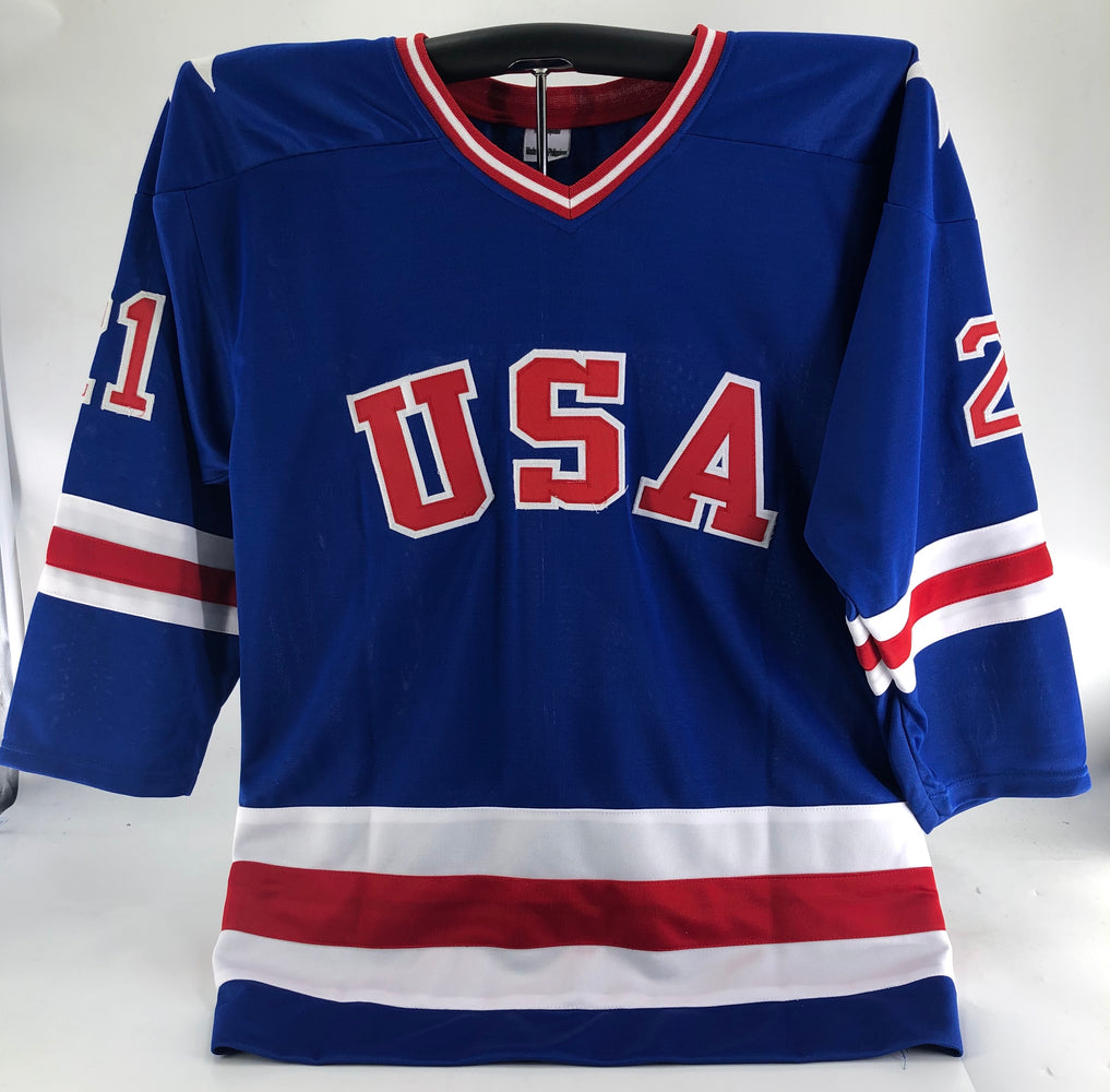 Mike Eruzione Autographed Team USA Jersey - Pastime Sports & Games