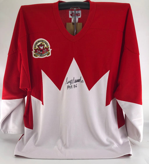 Serge Savard Autographed Team Canada Home Jersey - Pastime Sports & Games