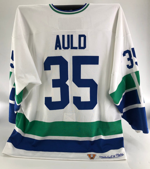 Alex Auld Game Worn Vancouver Canucks Vintage Special Alumni Edition Jersey Mitchell & Ness - Pastime Sports & Games