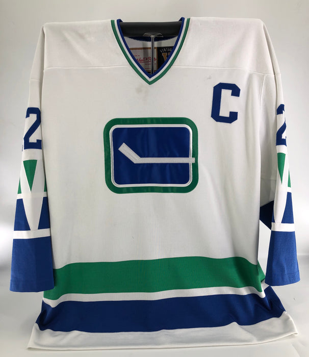 Stan Smyl Game Worn Vancouver Canucks Vintage Special Alumni Edition Jersey Mitchell & Ness - Pastime Sports & Games