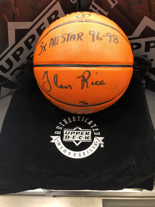 Glen Rice Inscribed Spalding Basketball - Pastime Sports & Games