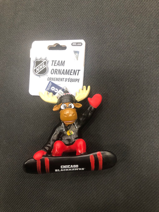 Chicago Blackhawks Hockey Moose Ornament