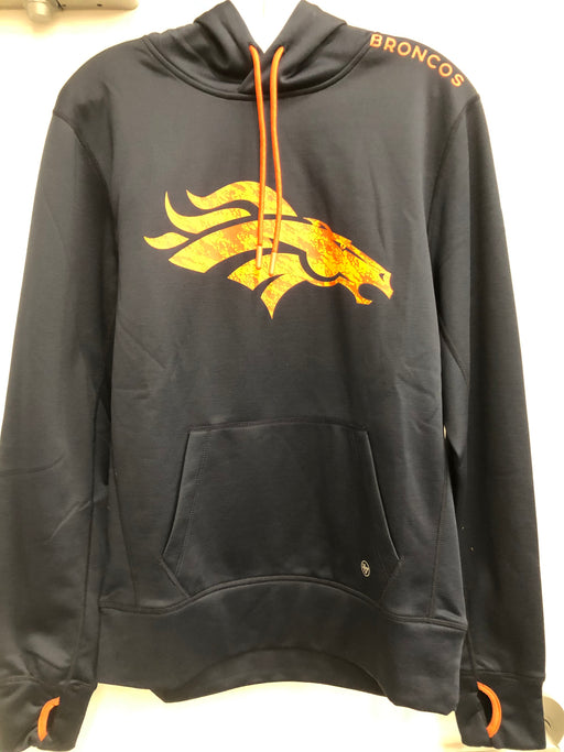 NFL Denver Broncos Blue Hoodie Orange Logo - Pastime Sports & Games