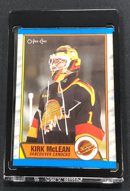 Kirk McLean Autographed Rookie Card - Pastime Sports & Games