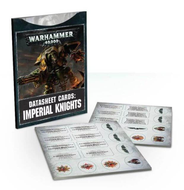 Warhammer 40,000 Datasheet Cards Imperial Knights (54-03-60) - Pastime Sports & Games