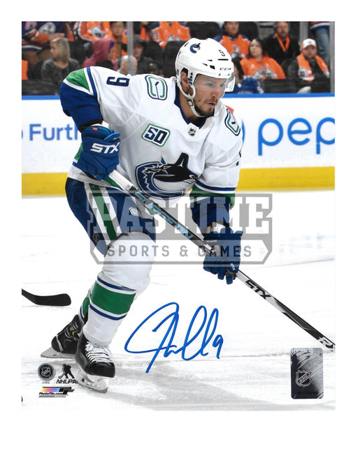 JT Miller Autographed 8X10 Vancouver Canucks Away Jersey (Skating) - Pastime Sports & Games