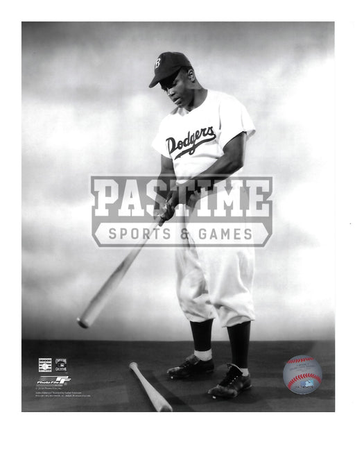 Jackie Robinson 8X10 LA Dodgers (Looking Down at Bat) - Pastime Sports & Games