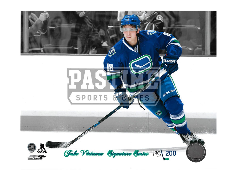 Jake Virtanen 8X10 Vancouver Canucks Home Jersey (# Out Of 200) - Pastime Sports & Games
