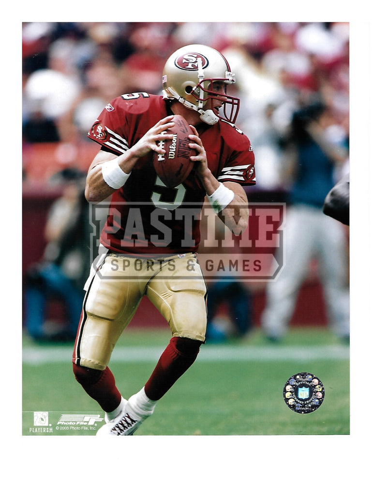 Jeff Garcia 8X10 San Francisco 49ers (About To Pass) - Pastime Sports & Games