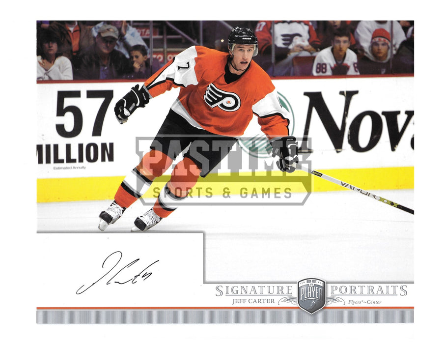 Jeff Carter Autographed 8X10 Philidelphia Flyers Home Jersey (Signature Portaits) - Pastime Sports & Games