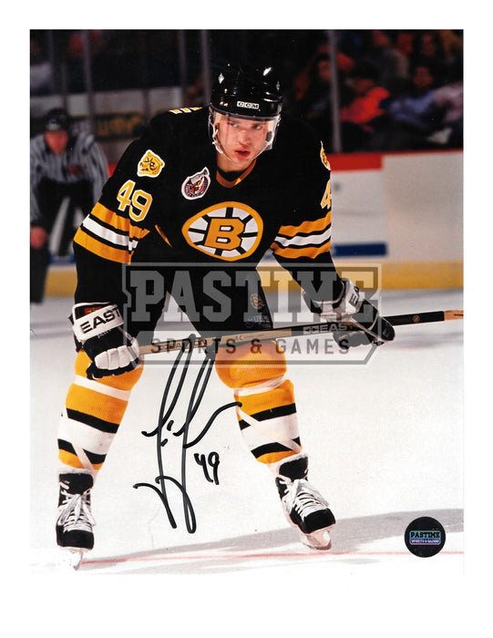 Joe Juneau Autographed 8X10 Boston Bruins Home Jersey (Ready) - Pastime Sports & Games