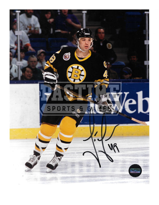 Joe Juneau Autographed 8X10 Boston Bruins Home Jersey (Skating) - Pastime Sports & Games