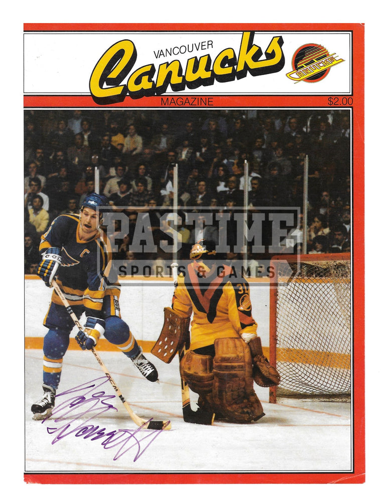 John Garrett Autographed 8X10 Magazine Page Vancouver Canucks Away Jersey (Canucks Magazine) - Pastime Sports & Games