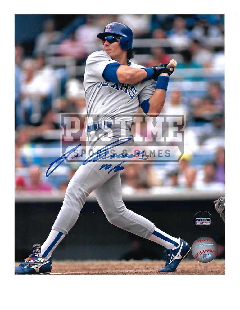 Jose Canseco Autographed 8X10 Texas Rangers (Swinging Bat) - Pastime Sports & Games