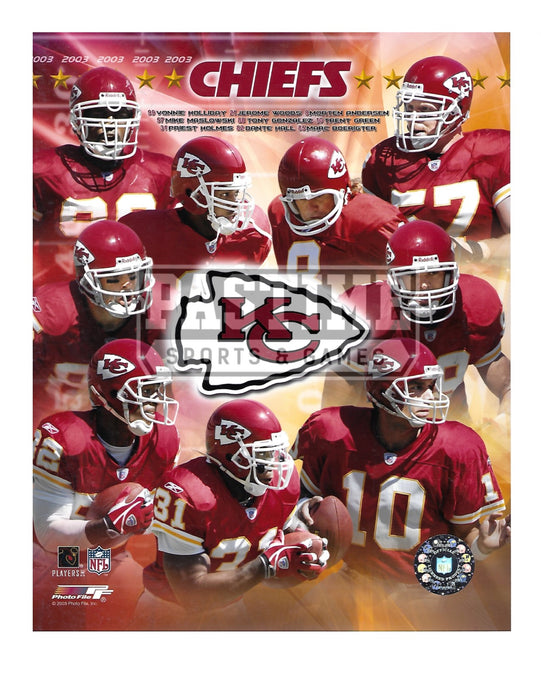 Kansas City Chiefs 8X10 Player Montage (2003) - Pastime Sports & Games