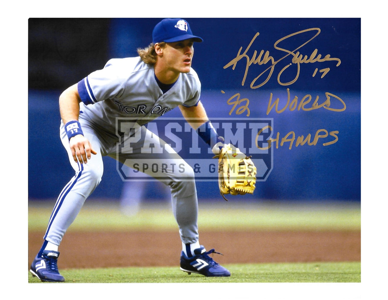 Kelly Gruber Autographed 8X10 Toronto Blue Jays (In Postion) - Pastime Sports & Games
