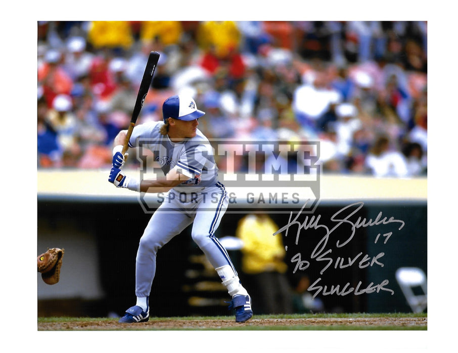 Kelly Gruber Autogrpahed 8X10 Toronto Blue Jays (Ready To Bat) - Pastime Sports & Games