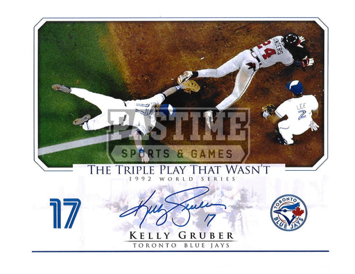 Kelly Gruber Autographed 8X10 Toronto Blue Jays (1992 World Series) - Pastime Sports & Games