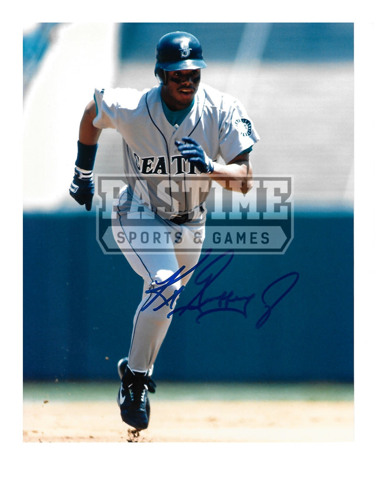 Ken Griffey Jr Autographed 8X10 Seattle Mariners (Running) - Pastime Sports & Games
