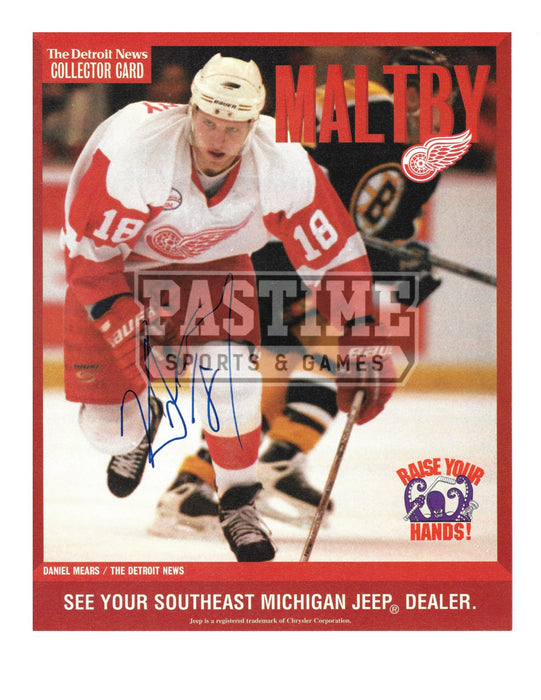 Kirk Maltby Autographed Magazine Page Detroit Red Wings Away Jersey (Maltby) - Pastime Sports & Games