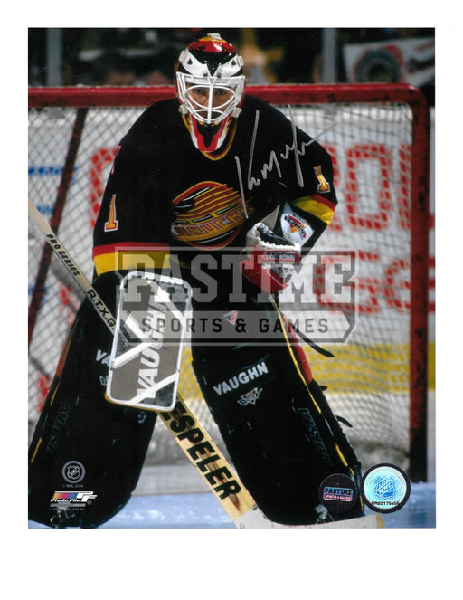 Kirk Mclean Autographed 8X10 Vancouver Canucks 94 Home Jersey (Close up Pose) - Pastime Sports & Games