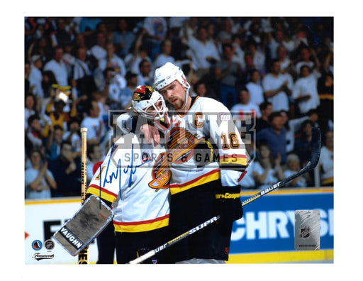 Kirk Mclean Autographed 8X10 Vancouver Canucks 94 Away Jersey (Heart And Soul) - Pastime Sports & Games