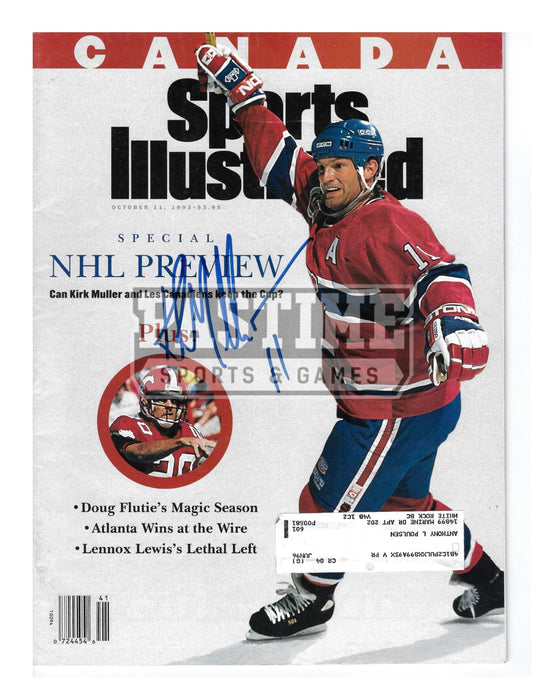 Kirk Muller Autographed Magazine Montreal Canadians Home Jersey (Sports Illustrated) - Pastime Sports & Games