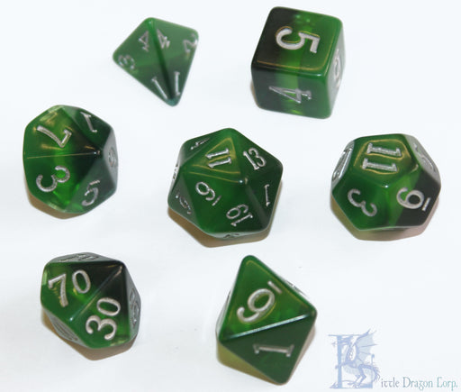 Little Dragon Corp 7pc RPG Dice Set Birthday Dice May Emerald - Pastime Sports & Games