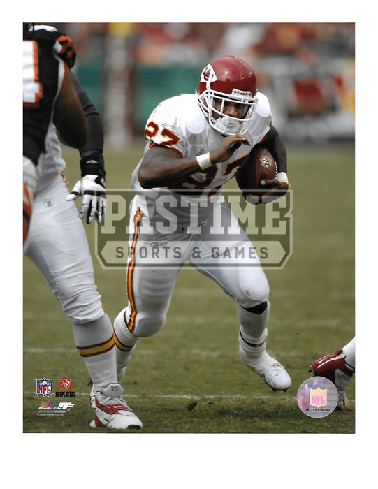 Larry Johnson 8X10 Kansas City Chiefs Away Jersey (Running With Ball) - Pastime Sports & Games