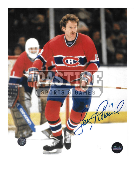 Larry Robinson Autographed 8X10 Montreal Canadians Home Jersey (Skating) - Pastime Sports & Games