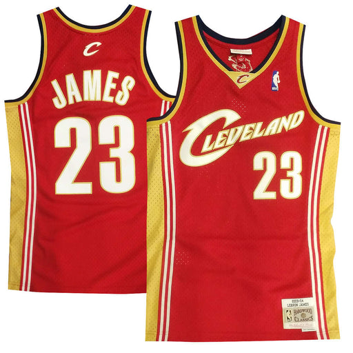 2003/04 LeBron James Cleveland Cavaliers Home Basketball Jersey (Maroon Mitchell & Ness)