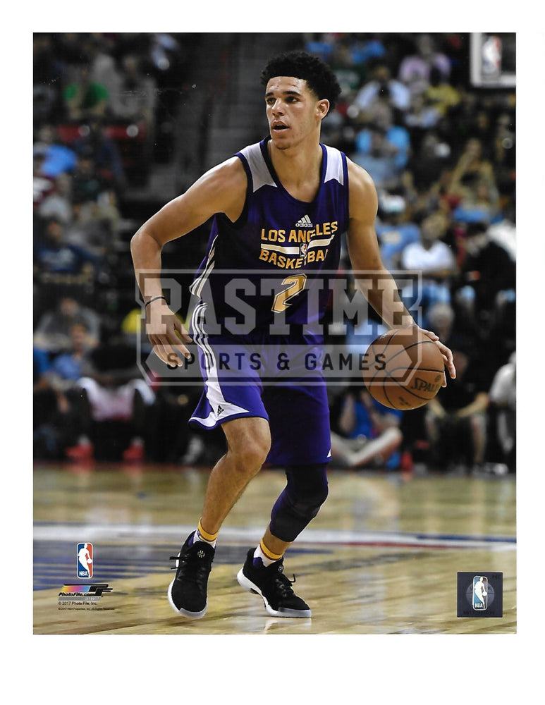 Lonzo Ball 8X10 L.A Lakers (With Ball) - Pastime Sports & Games
