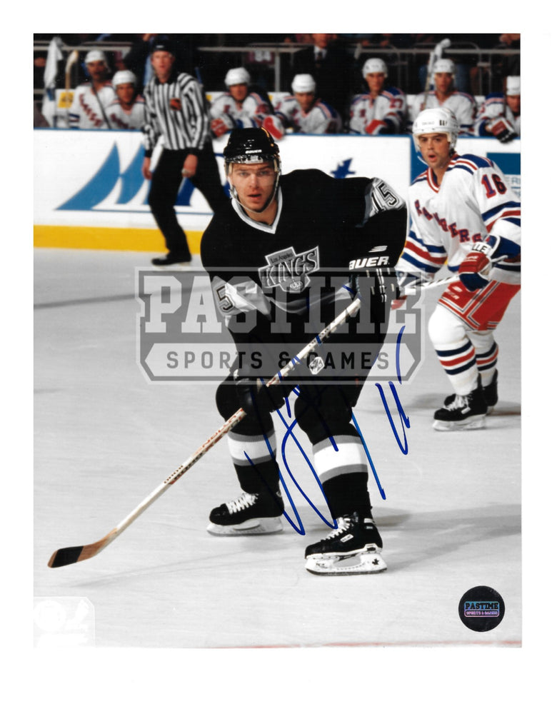 Luc Robitaille Autographed 8X10 LA Kings Home Jersey (Skating With Puck) - Pastime Sports & Games